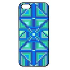 Grid Geometric Pattern Colorful Apple Iphone 5 Seamless Case (black) by Nexatart