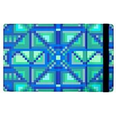 Grid Geometric Pattern Colorful Apple Ipad 3/4 Flip Case by Nexatart