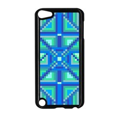 Grid Geometric Pattern Colorful Apple Ipod Touch 5 Case (black) by Nexatart