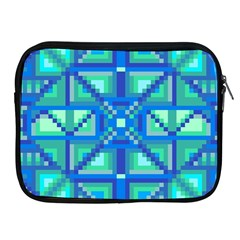 Grid Geometric Pattern Colorful Apple Ipad 2/3/4 Zipper Cases by Nexatart