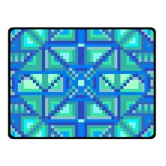 Grid Geometric Pattern Colorful Double Sided Fleece Blanket (small)