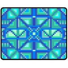Grid Geometric Pattern Colorful Double Sided Fleece Blanket (medium)