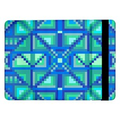 Grid Geometric Pattern Colorful Samsung Galaxy Tab Pro 12 2  Flip Case