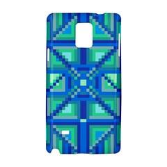 Grid Geometric Pattern Colorful Samsung Galaxy Note 4 Hardshell Case by Nexatart