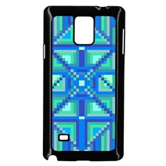 Grid Geometric Pattern Colorful Samsung Galaxy Note 4 Case (black) by Nexatart