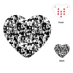 Elvis Presley Pattern Playing Cards (heart)  by Valentinaart