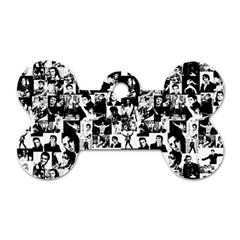 Elvis Presley Pattern Dog Tag Bone (one Side) by Valentinaart