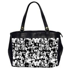 Elvis Presley Pattern Office Handbags (2 Sides)  by Valentinaart
