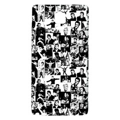 Elvis Presley Pattern Galaxy Note 4 Back Case by Valentinaart