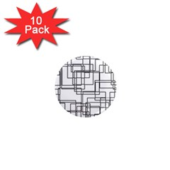 Structure Pattern Network 1  Mini Magnet (10 Pack)  by Nexatart