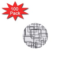 Structure Pattern Network 1  Mini Buttons (100 Pack)