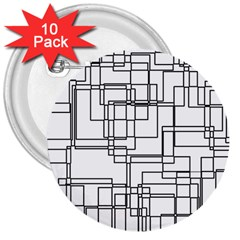 Structure Pattern Network 3  Buttons (10 Pack)