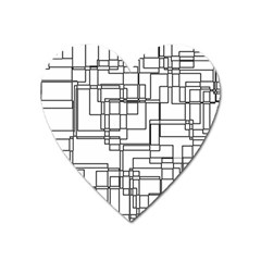Structure Pattern Network Heart Magnet by Nexatart