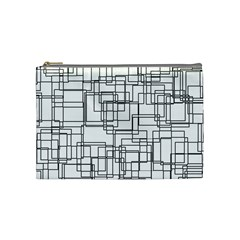 Structure Pattern Network Cosmetic Bag (medium)