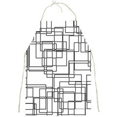 Structure Pattern Network Full Print Aprons