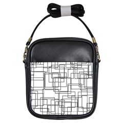 Structure Pattern Network Girls Sling Bags by Nexatart