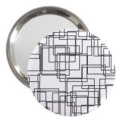 Structure Pattern Network 3  Handbag Mirrors by Nexatart