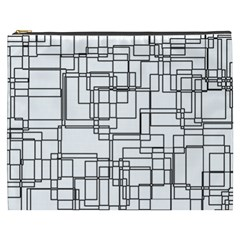 Structure Pattern Network Cosmetic Bag (xxxl)  by Nexatart