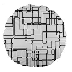 Structure Pattern Network Large 18  Premium Round Cushions