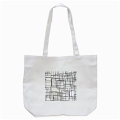 Structure Pattern Network Tote Bag (white) by Nexatart