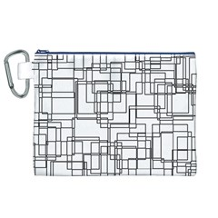 Structure Pattern Network Canvas Cosmetic Bag (xl) by Nexatart