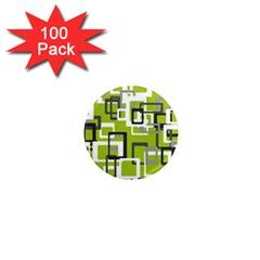 Pattern Abstract Form Four Corner 1  Mini Magnets (100 Pack)