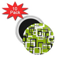 Pattern Abstract Form Four Corner 1 75  Magnets (10 Pack)  by Nexatart