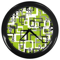 Pattern Abstract Form Four Corner Wall Clocks (black) by Nexatart
