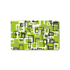 Pattern Abstract Form Four Corner Magnet (name Card)
