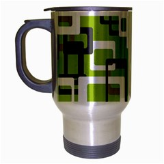 Pattern Abstract Form Four Corner Travel Mug (silver Gray) by Nexatart
