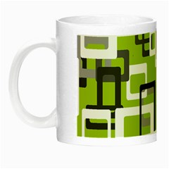 Pattern Abstract Form Four Corner Night Luminous Mugs