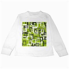 Pattern Abstract Form Four Corner Kids Long Sleeve T Shirts