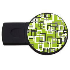 Pattern Abstract Form Four Corner Usb Flash Drive Round (4 Gb) by Nexatart