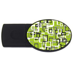 Pattern Abstract Form Four Corner Usb Flash Drive Oval (4 Gb) by Nexatart