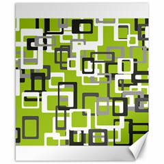 Pattern Abstract Form Four Corner Canvas 8  X 10  by Nexatart