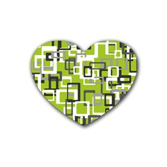 Pattern Abstract Form Four Corner Rubber Coaster (heart)  by Nexatart