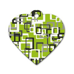 Pattern Abstract Form Four Corner Dog Tag Heart (one Side) by Nexatart