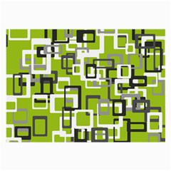 Pattern Abstract Form Four Corner Large Glasses Cloth (2 Side)