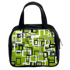 Pattern Abstract Form Four Corner Classic Handbags (2 Sides)