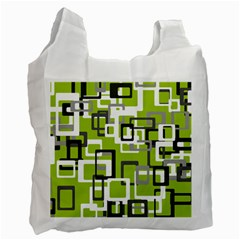 Pattern Abstract Form Four Corner Recycle Bag (two Side)  by Nexatart