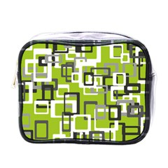 Pattern Abstract Form Four Corner Mini Toiletries Bags by Nexatart