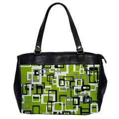 Pattern Abstract Form Four Corner Office Handbags