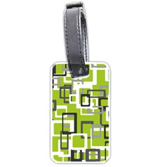Pattern Abstract Form Four Corner Luggage Tags (two Sides) by Nexatart