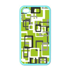 Pattern Abstract Form Four Corner Apple Iphone 4 Case (color) by Nexatart