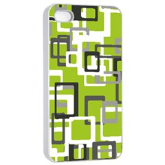 Pattern Abstract Form Four Corner Apple Iphone 4/4s Seamless Case (white) by Nexatart