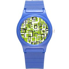 Pattern Abstract Form Four Corner Round Plastic Sport Watch (s) by Nexatart