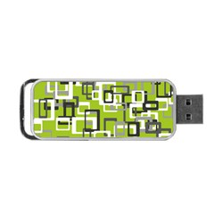 Pattern Abstract Form Four Corner Portable Usb Flash (two Sides)