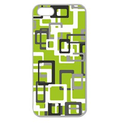 Pattern Abstract Form Four Corner Apple Seamless Iphone 5 Case (clear)