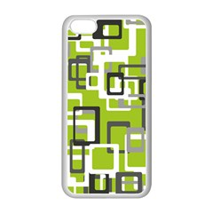 Pattern Abstract Form Four Corner Apple Iphone 5c Seamless Case (white) by Nexatart