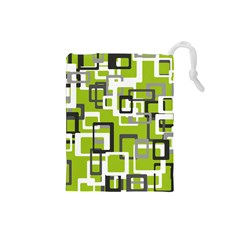 Pattern Abstract Form Four Corner Drawstring Pouches (small)